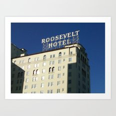 Hollywood Roosevelt Art Print