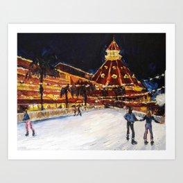 Hotel Del Coronado at Night Art Print