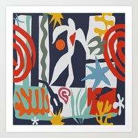 matisse Art Prints featuring Inspired to Matisse by Chicca Besso