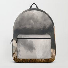 Marshmallow - Storm Cloud Over Golden Wheat in Kansas Backpack