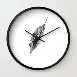 JL Feather Wall Clock