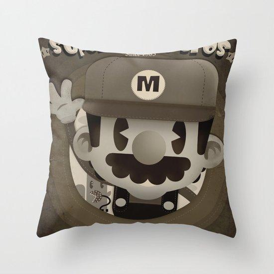 Mario Bros Fan Art Throw Pillow