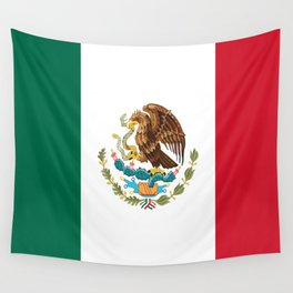 mexican sports fan mexico flag Wall Tapestry
