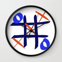 Tic Tac Toe Wall Clock