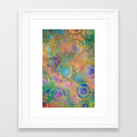 circles Framed Art Prints featuring Circles by Klara Acel