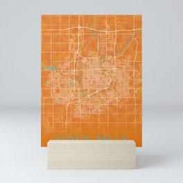 Sioux Falls, SD, USA, Gold, Blue, City, Map Mini Art Print