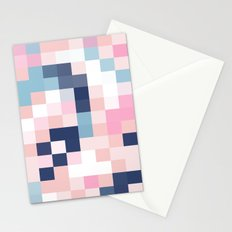 Map Blush And Blue Stationery Cards