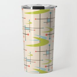 Mid Century Modern in Lime and Blush Travel Mug