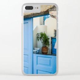 Broken door Clear iPhone Case
