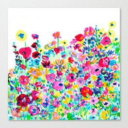 Flower Fields Pink Canvas Print