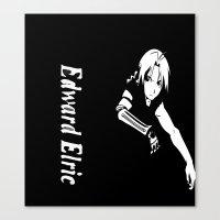 fullmetal Canvas Prints featuring FullMetal Alchemist- Edward Elric by Ren Flexx