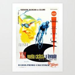La Vuelta 1960 Art Print