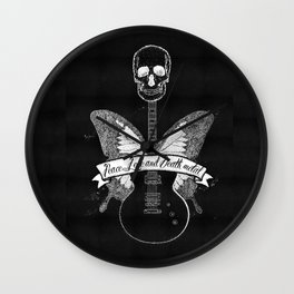 peace love and death metal Wall Clock