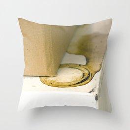 coffee ring Throw Pillow