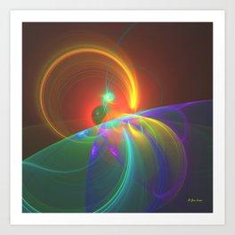 Horizon Eclipse Art Print