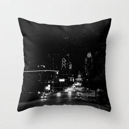 downtown austin, texas Throw Pillow