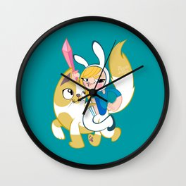 Time for some adventures! (Fionna & Cake) Wall Clock