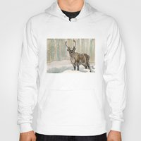 reindeer Hoodies featuring Reindeer by Meredith Mackworth-Praed