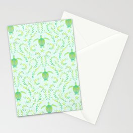 Sea Turtle Watercolor Pattern Stationery Cards
