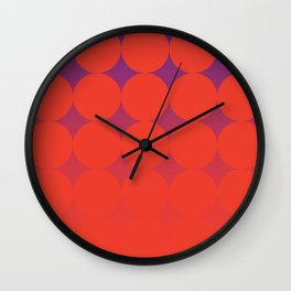 Circling Red Wall Clock