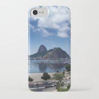 rio de janeiro iPhone & iPod Cases featuring Lovely Rio de Janeiro by Michel Lent