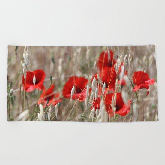 Poppies  - JUSTART © Beach Towel