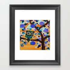 :: Sunset Gemmy Owl :: Framed Art Print