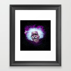 Albert Einstein Nebula Framed Art Print