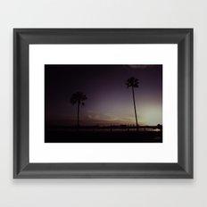 Purple Dusk Framed Art Print