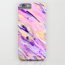Pink, Purple Abstract art. Intuitive Acrylic painting.  iPhone Case