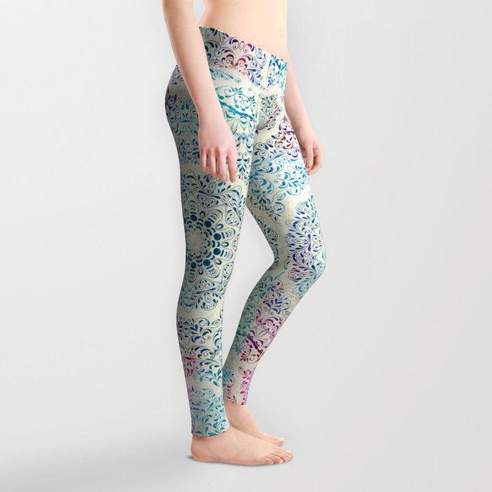 Watercolor Mandala Leggings