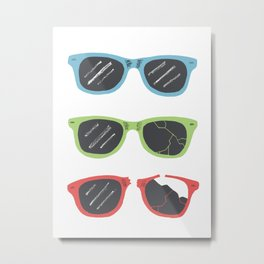 Sunglasses Metal Print