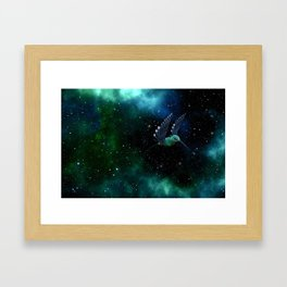 Space Hummingbird Framed Art Print