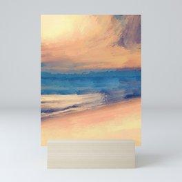 Approaching Sunset Abstract Seascape Mini Art Print