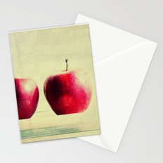 three apples Stationery Cards