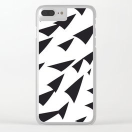 black soft arrows Clear iPhone Case