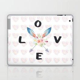Watercolor Roses Arrows Love Typography Laptop & iPad Skin