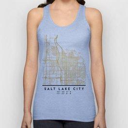 SALT LAKE CITY UTAH CITY STREET MAP ART Unisex Tank Top