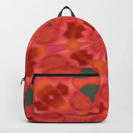 Succulent Red and Yellow Flower Abstract 3 Backpack