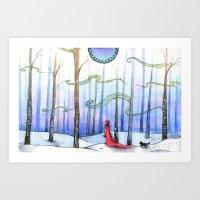 Come, Little Wolf Art Print