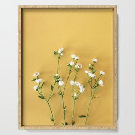 Yellow summer   Flower Photography Serving Tray
