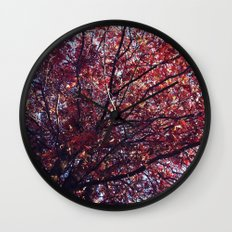 Under the trees - Autumn Wall Clock