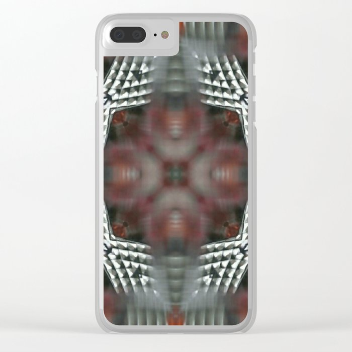 Ammar Abstract Clear iPhone Case