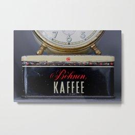 Coffee o'clock Metal Print