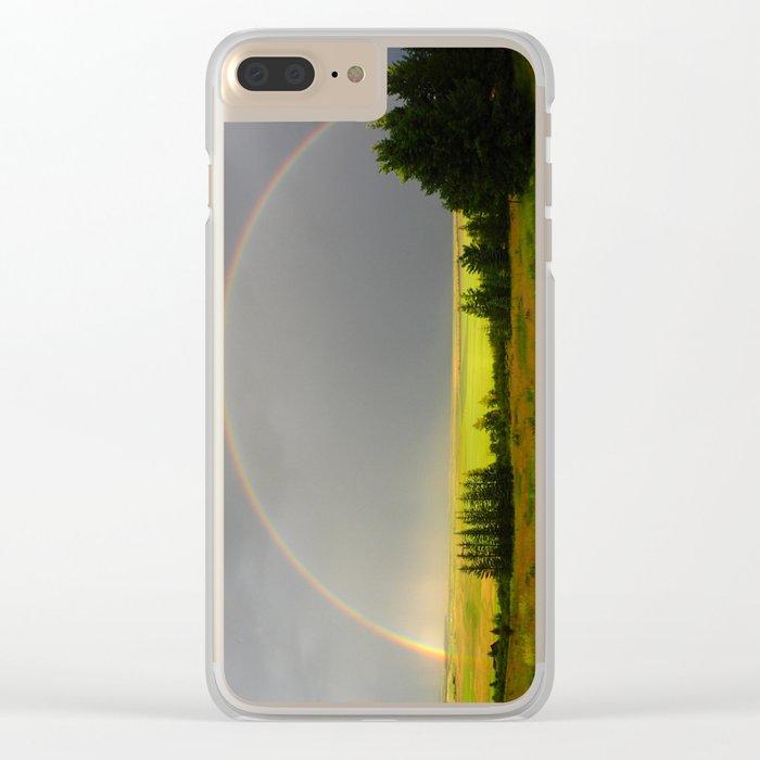 Rainbow Clear iPhone Case