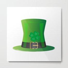 Irish Green Top Hat Metal Print