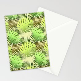 Palm leaves tropical jungle Stationery Cards