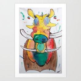 Nifty Warthog Art Print
