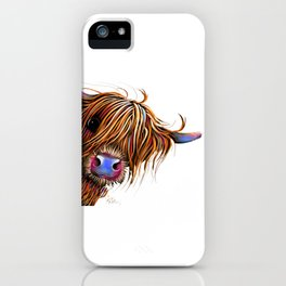 HiGHLaND CoW PRiNT SCoTTiSH ' SuGaR LuMP ' BY SHiRLeY MacARTHuR iPhone Case
