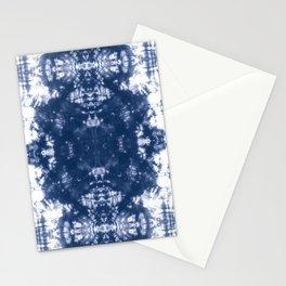 Shibori Tie Dye 2 Indigo Blue Stationery Cards
